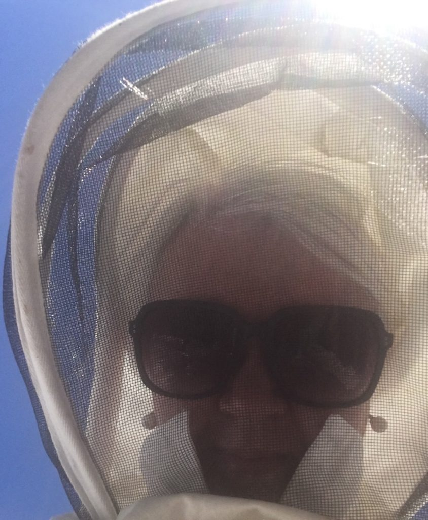 Selfie in bee suit min