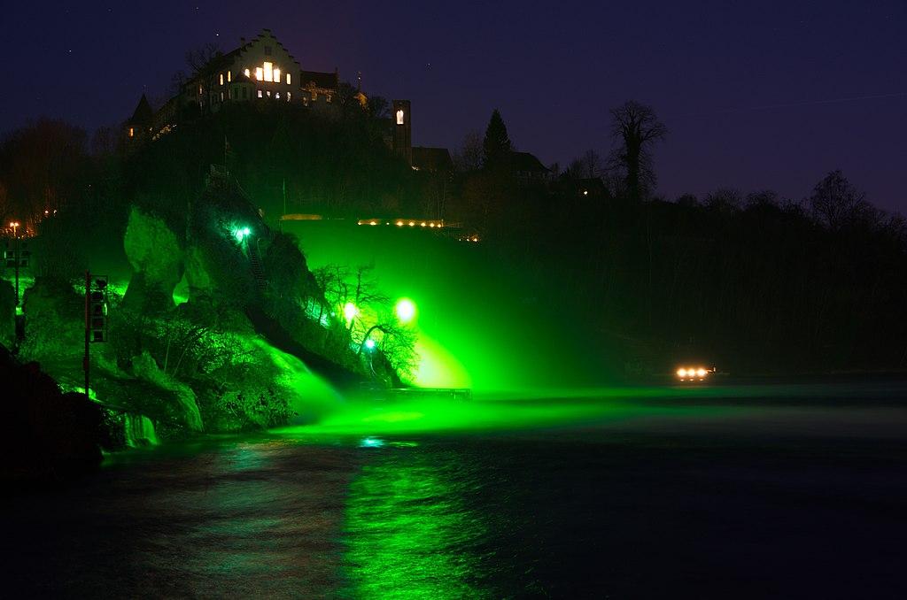 1024px Rhine Falls St Patricks Day 2017