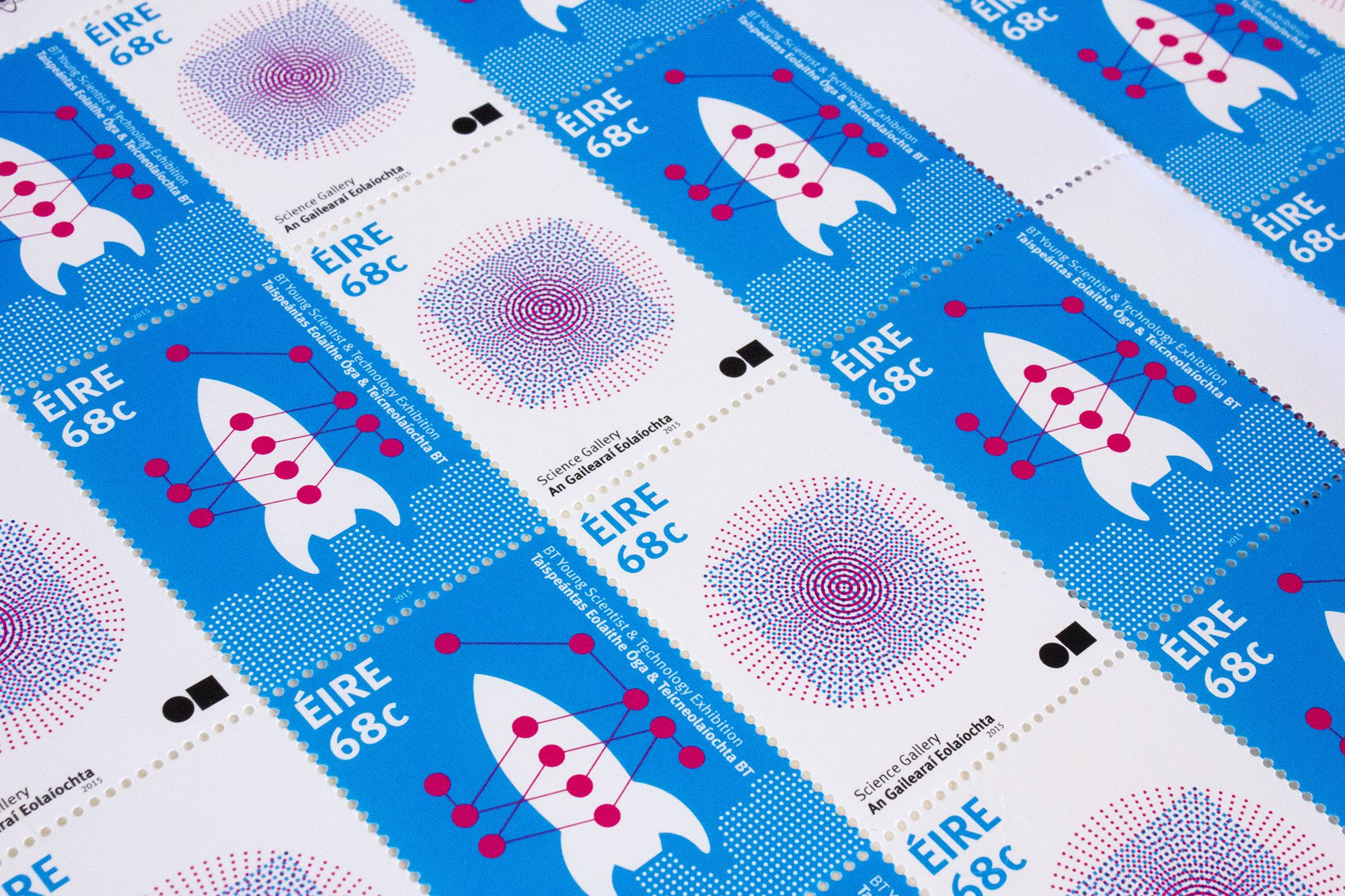 Science Stamps for An Post 2014 designed by Detail Design Studio copy