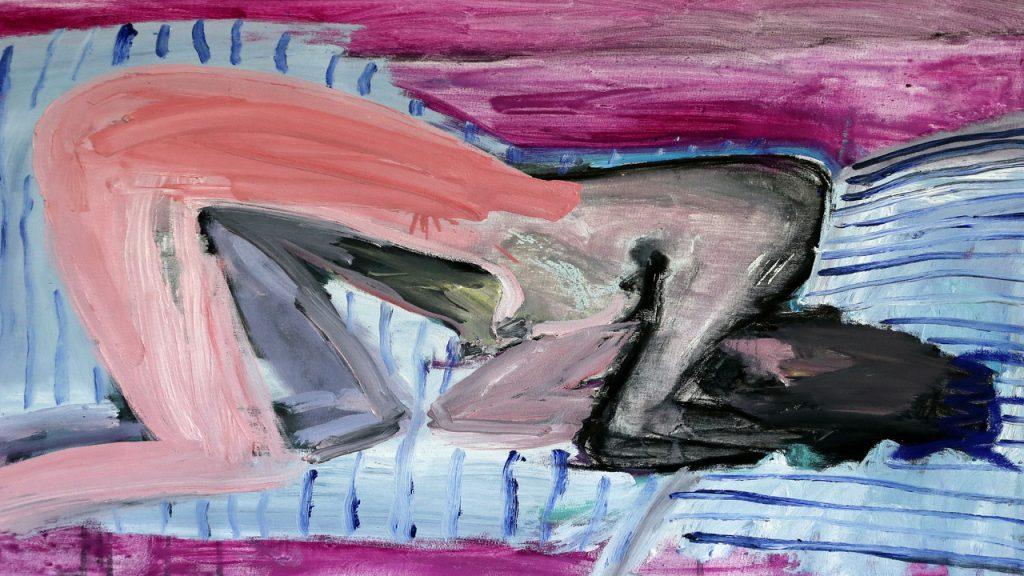 Medusa Jennifer Smith oil acrylic ink and charcoal on canvas 60x65cm 2020