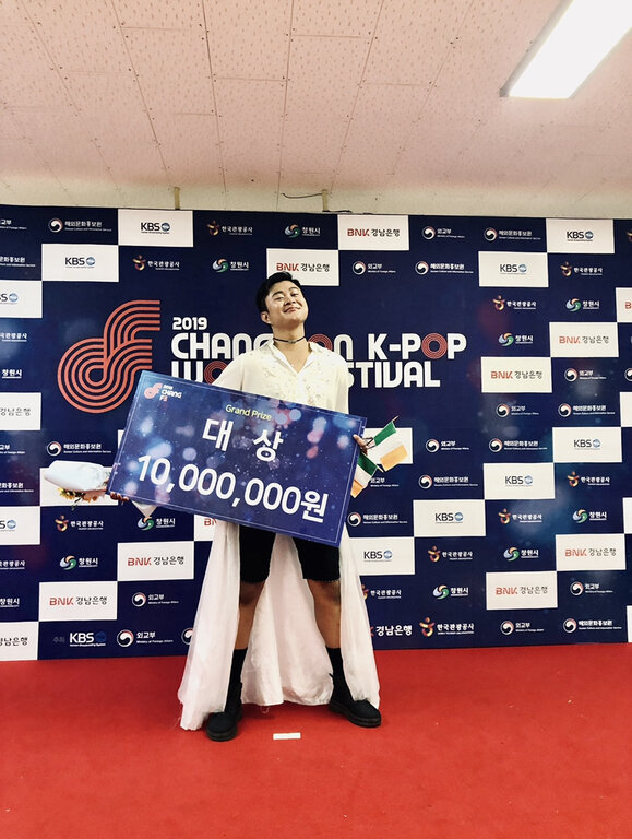 Sodem with the K-Pop World Festival winnings.